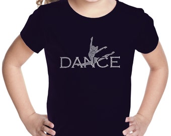 Girl's T-shirt - Dancer Created Out of Popular Styles of Dance