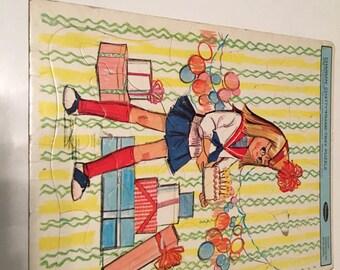 1963 charmin chatty frame tray puzzle whitman
