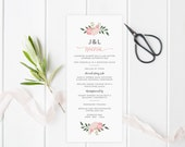Blush Flower Menu