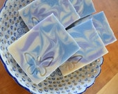 Lavender Goat Milk Soap -  Luxury handmade soap with Shea and Cocoa Butter -  Handmade in BC, Canada
