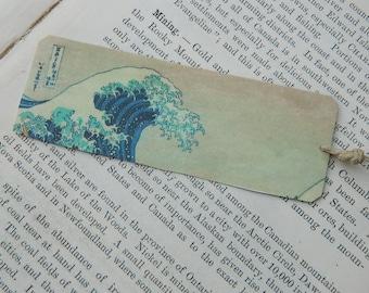 The Great Wave Bookmark art bookmark metal bookmark