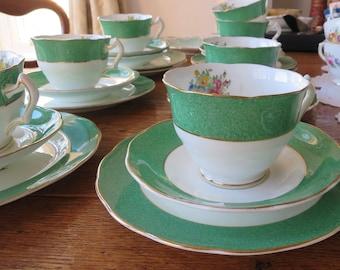 Coalport vintage china tea cup trio