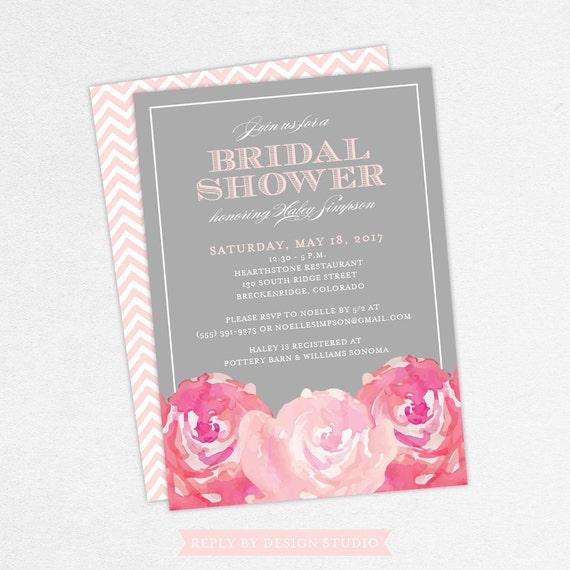 Bridal shower invitation haley digital file diy pdf for Bridal shower email invitations