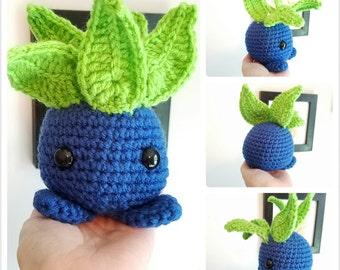 Oddish Plush Toy. Crochet Oddish Toy. Amigurumi Oddish. Pokemon Plush Toys