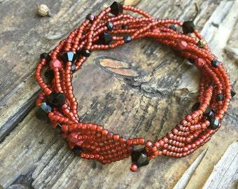 Eight Strand Beaded Bracelet