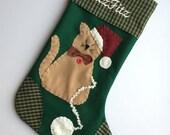 Cat Stocking, Cat Christmas Stocking, Stocking for Cat, Christmas Stocking for Cat
