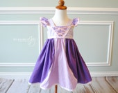 Tangled Inspired Dress - Tangled Birthday Dress - Rapunzel Dress - Tangled Outfit - Tangled Halloween Costume - Purple Princess Dress