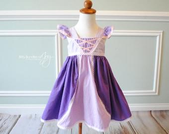 Tangled Inspired Dress - Tangled Birthday Dress - Rapunzel Dress - Tangled Outfit - Tangled Halloween Costume - Purple Princess Dress