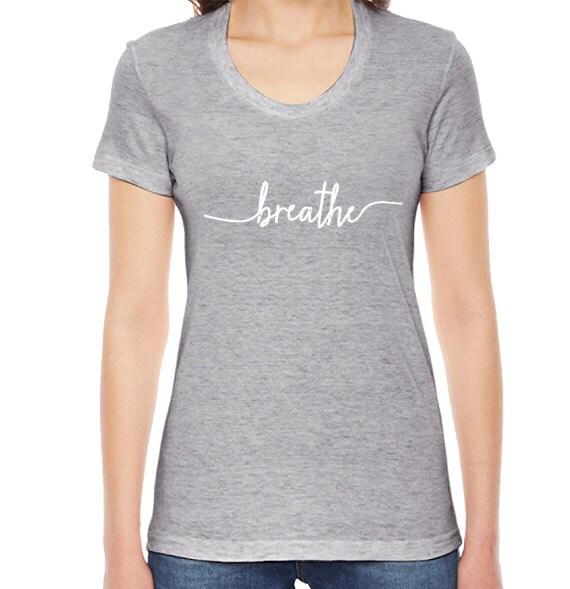 Breathe Yoga T-Shirt Womens Clothing Breathe TShirt Yoga