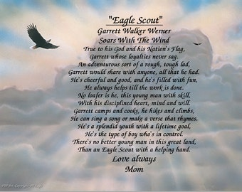 Eagle Scout Personalized Gift Keepsake and Remembrance