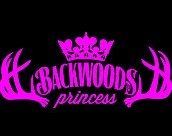 Backwoods Princess Vinyl Decal
