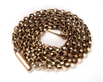 Victorian 9K Rose Gold Belcher Chain