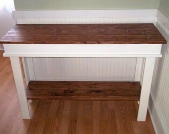Country Farmhouse  Console Table , Furniture , Side Table , Entry Table , Foyer Table