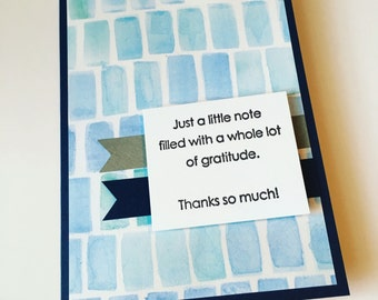 Blue Thank You Greeting Card **READY TO SHIP**