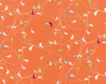 Flow by Brigitte Heitland for Zen Chic and Moda - Splash - Orange - FQ Fat Quarter Yard Cotton Quilt Fabric 516