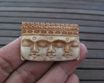 Antique look   Three faces Buddha  Cabochon,  Cabochon for Setting , jewelry making supplies S3353