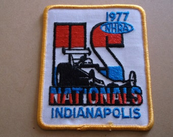 """1977 NHRA Patch, """"US Nationals"""" Indianapolis"""