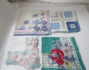 Set of 4 Cotton Handkerchiefs