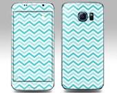 BLUE CHEVRON Galaxy Decal Galaxy Skin Galaxy Cover Galaxy S6 Skin, Galaxy S6 Edge Decal Galaxy Note Skin Galaxy Note Decal Cover