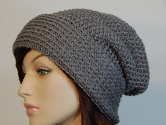 Crochet Hat Patterns With Cuff : Crochet PATTERN PDF, The Reversible Slouch Beanie, Folded ...