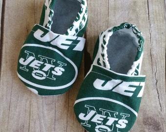 NY Jets Cloth Baby Booties