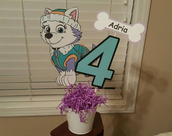 Dog character party centerpiece cake topper Paw, puppy
