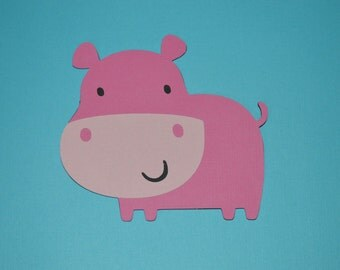 """Large Hippo Die Cuts (6) 4"""""""