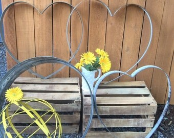 Perfect Shape...Barrel Heart from Recycled Wine Barrel/Rustic Wedding Decor/Barrel Heart Home Decor/Wine Barrel Hoop Heart