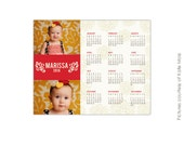 INSTANT DOWNLOAD - 8x10 Calendar template 2016 - Marissa - E189