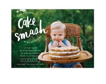 INSTANT DOWNLOAD - Cake Smash Marketing Board | Giant Cake -  E1347