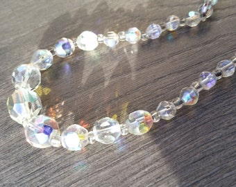 Sparkly Aurora Borealis Necklace - Vintage Paste Choker