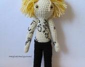 Jace Wayland - Mortal Instruments -Crochet Doll Amigurumi-12 inch tall-Handmade-Hugable-Plush-Decoration-Ready to Ship