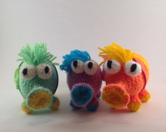Snufflelump Amigurumi Knitting Pattern - Plush toy animal / Alien / Monster - new lower price!