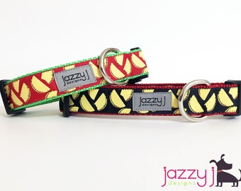 Red and Black Tacos Mexican Dog Collar