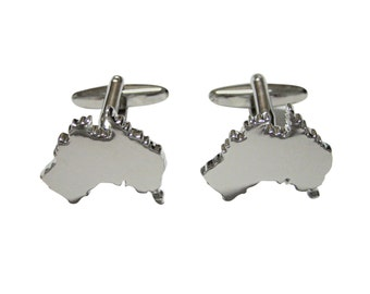 Australia Map Shape Cufflinks
