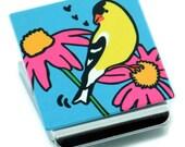 Goldfinch Metal Clip Magnet