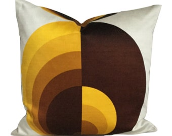 Cushion Cover Vintage Retro 60s 70s Fabric 16 X 16
