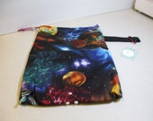 Medium Snap drawstring project bag- Outer Space