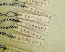 Distressed Thank You tags.  Shop tags. Etsy shop tags. Jewelry tags. Thank You tags with twine. Thanks tags.
