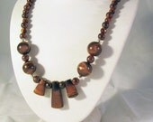 Red Tiger Eye and Garnet Necklace