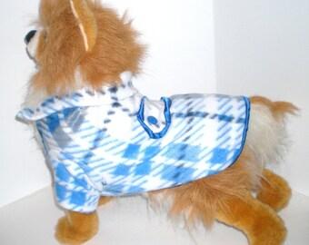 Dog Coat Blue plaid