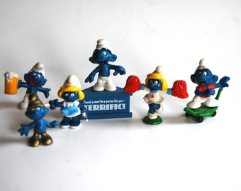 Collection of Schleich 1980's Smurf Figures ON SALE!