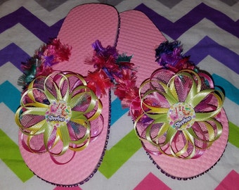 Shopkins Flip Flops  - this listing is for 1 pair - Choose your Favorite Shopkin