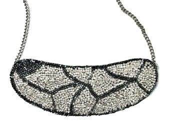bib beadwork necklace