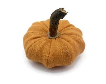 Burlap Pumpkin, Home Halloween Decor, Fall Country Home Accent Fall and Halloween Decor