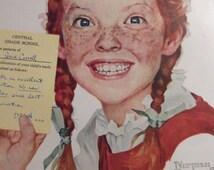 CREST TOOTHPASTE Norman Rockwell Original Vintage Ad Bathroom Print Dentist Dental Office Decor Dental Hygienist Wall Decor Ready To Frame