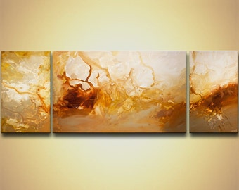 "Huge Abstract Painting Contemporary Abstract Art On Canvas Ready To Hang ORIGINAL  84""x30"" by Osnat"