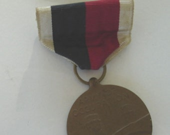 Vintage WW11 USA Army Medal Army Of Occupation 1945 Medal With Ribbon Bar Military Collectibles