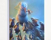 Blank Snowman Holiday Card