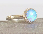 Sterling Silver Blue Opal Ring Ready to Ship